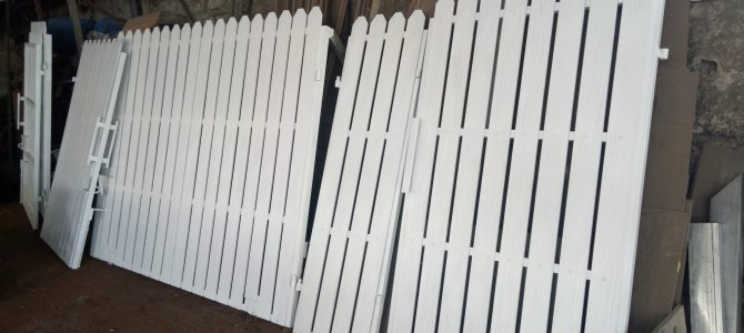 Pagar minimalis kayu